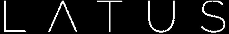 White LATUS logo